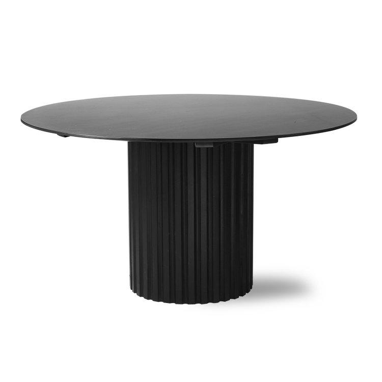 HKliving HKliving pillar dining table round black