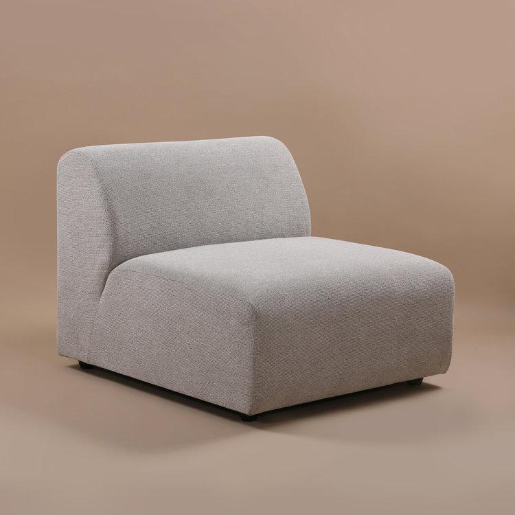 HKliving HKliving Jax Couch: Element Mitte, hellgrau