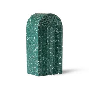 HKliving Terrazzo arch ornament a green