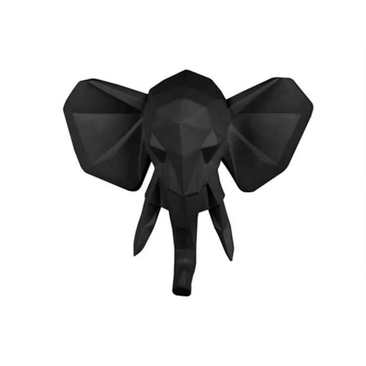 Present Time wall hanger origami elephant matt black