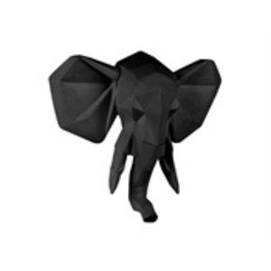 Present Time Presenttime wall hanger origami elephant matt black