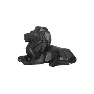 Present Time Statue Origami Lion polyresin matt black