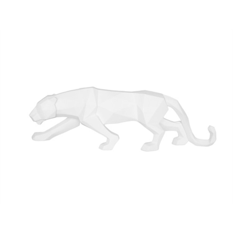 Present Time Present Time Statue Origami Panther polyresin matt white