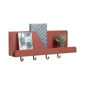 Present Time Wall organizer Perky iron clay brown