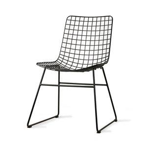 HKliving Drahtstuhl Metall schwarz oder silber