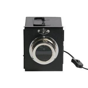 BePureHome Projektor Tischlampe Metall schwarz