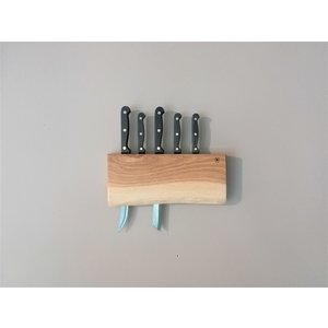 Brût Home Industrials Knife Holder Wood 	4 × 30 × 15 cm