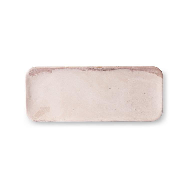 HKliving HKliving Tray pink  marble