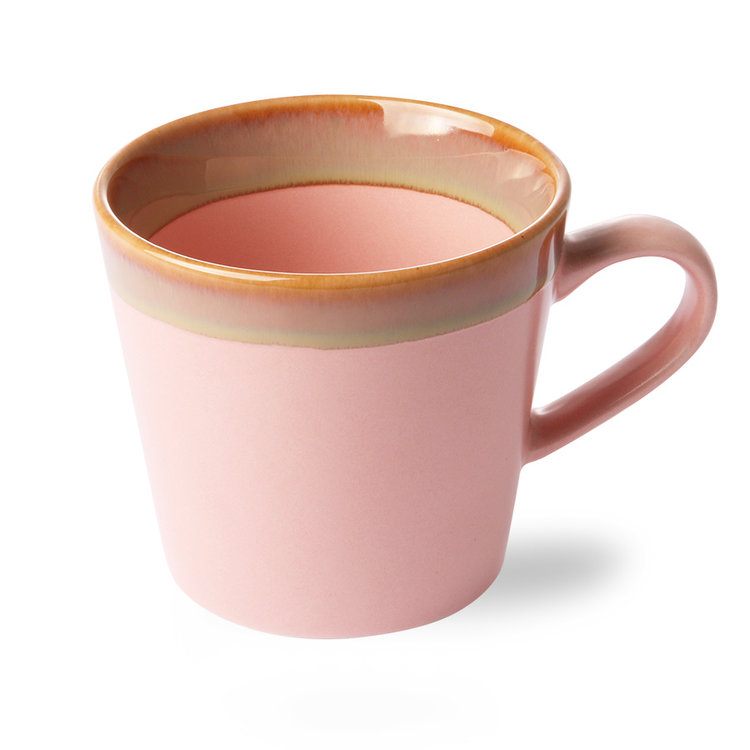 HKliving  HKliving cup cappuccino 70's ceramic pink