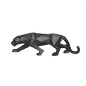 Present Time Statue Origami Panther mattschwarz