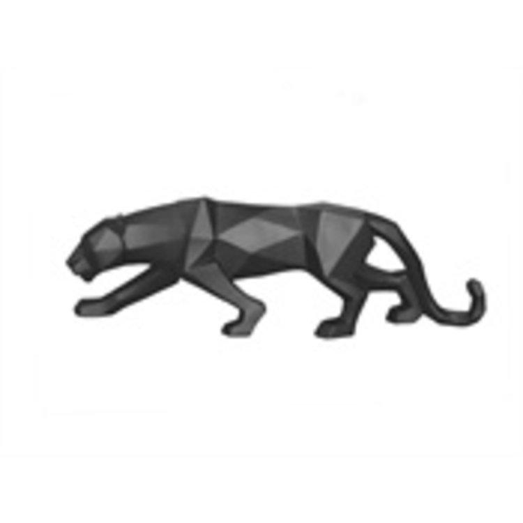 Present Time Present Time Statue Origami Panther polyresin matt black