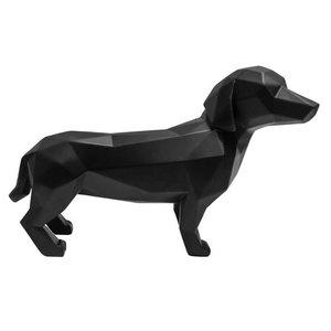 Present Time statue origiami dog standing