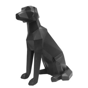Present Time statue origami dog sitting