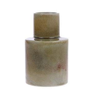 HKliving Ceramic vase mint / wine