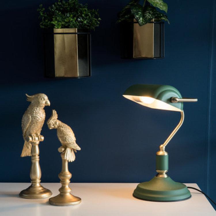 Present Time Dekorationsobjekt Kakadu in Gold Design klein