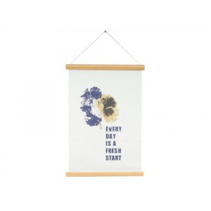 Present Time Wall chart: Every day is a new beginning Canvas
