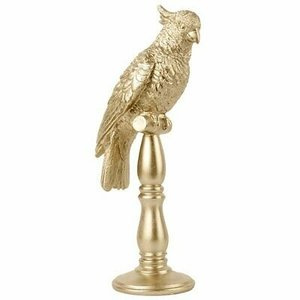 Present Time Decorative object Cockatoo in Gold Design