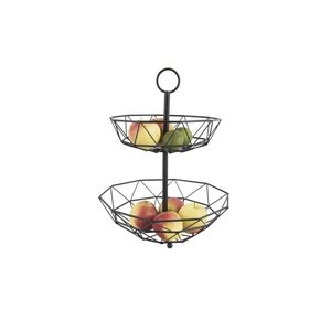 Present Time Fruit basket diamond cut 2 layers