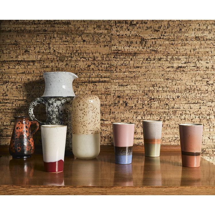 HKliving HKliving ceramic 70's  latte mugs set of 4