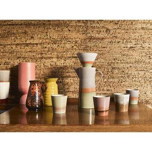 HKliving Keramikbecher der 70er Jahre, 2er-Set