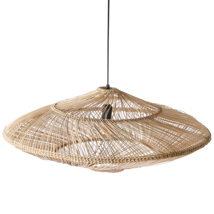 HKliving HKliving rieten hanglamp ovaal naturel