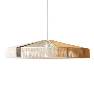 HKliving Pendant rope lamp black or terra stroke