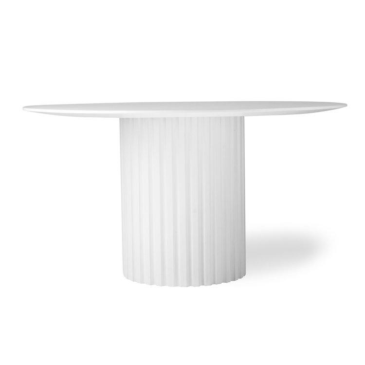 HKliving HKliving Esstisch rund schwarz oder weiß