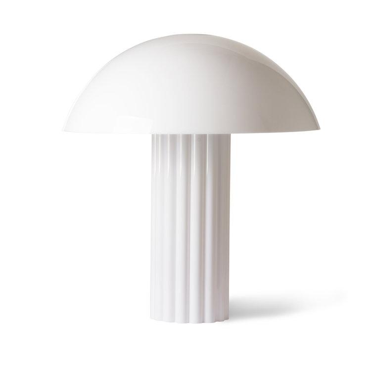 HKliving HKliving acryl koepel tafellamp wit