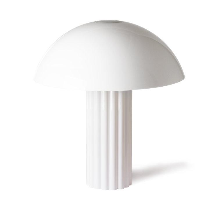 HKliving HKliving Acryl Kuppel Tischlampe weiß