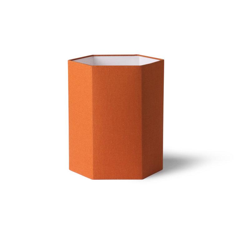 HKliving HKliving zeshoekige lampenkap oranje jute m