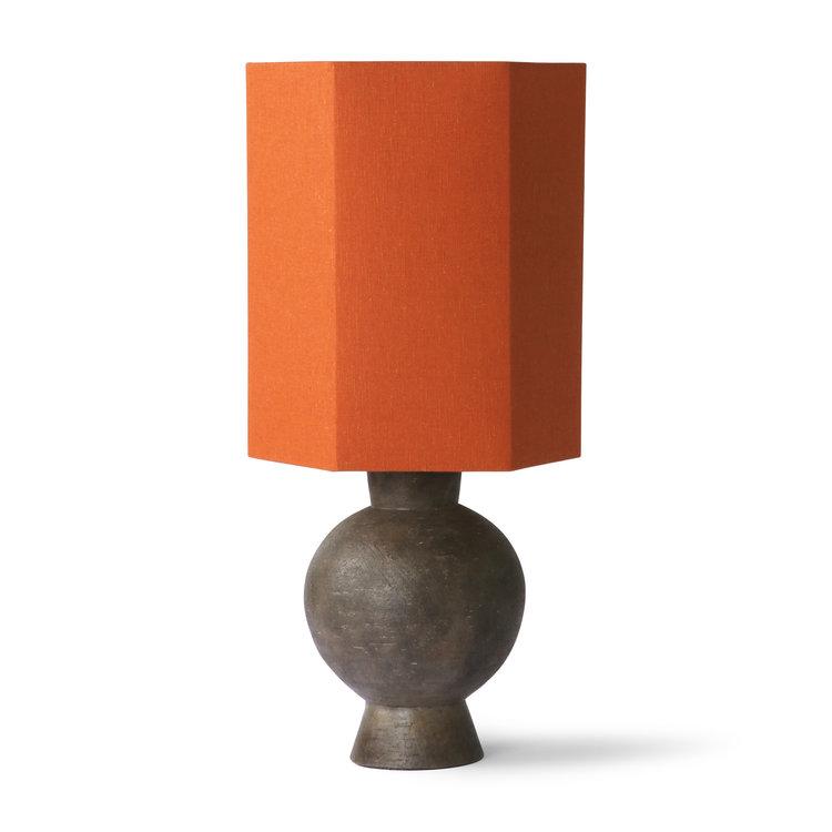 HKliving HKliving sechseckiger Lampenschirm orange Jute m