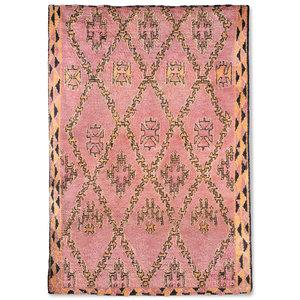 HKliving hand knotted woolen berber rug terra/orange