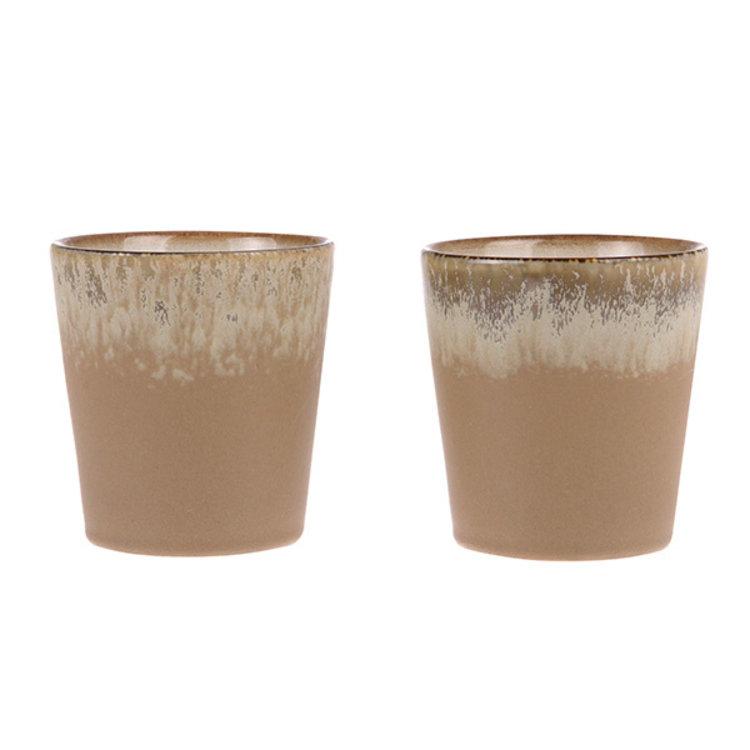 "HKliving HKliving mug 70's ceramic: ""Bark"""