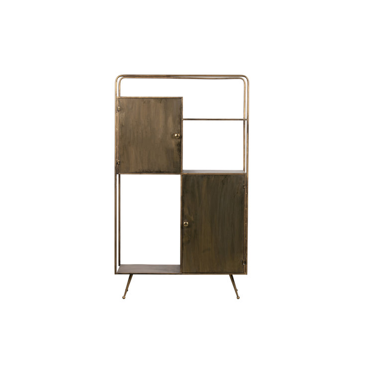 WOOOD WOOOD Chief compartment cupboard metal antique brass