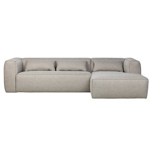 WOOOD Bean corner sofa right incl. Cushions light gray
