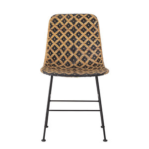 Dutch Home Designs Kitty rattan dining room chair - black