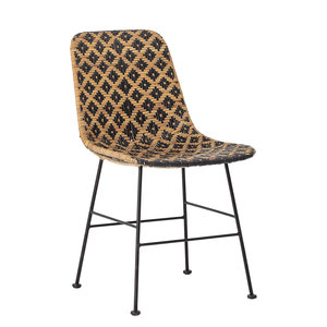 Dutch Home Designs Bloomingville Kitty rattan dining room chair - black