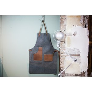Brût Home Industrials Apron leather brown/blue