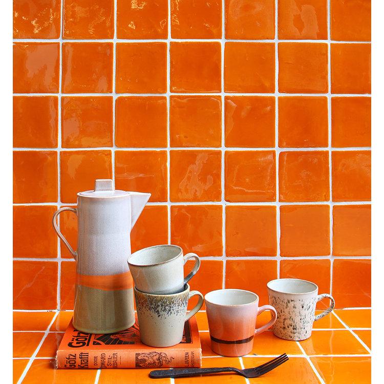 HKliving HKliving Keramik 70er Americano Becher 4er-Set