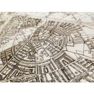 BRANDTHOUT. BRANDTHOUT. Wanddekoration Citymap Mainz | Holzwandpaneel