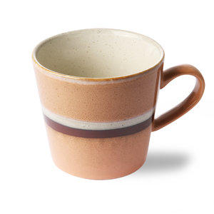 "HKliving HKliving Cup cappuccino 70's ceramic ""Stream""."