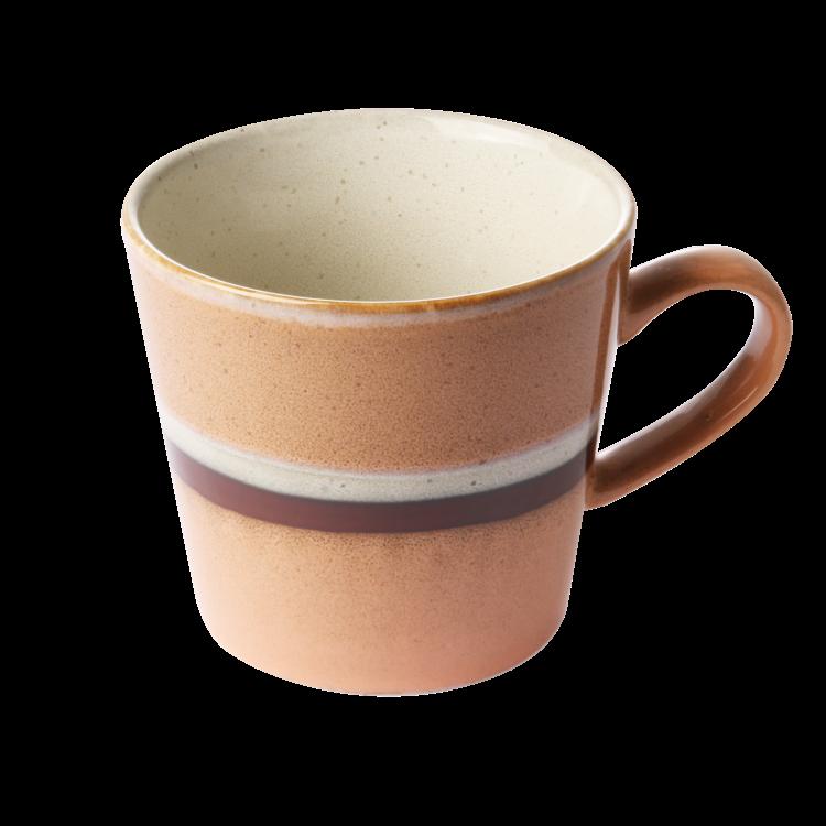 "HKliving HKliving Cup cappuccino 70's keramiek ""Stream""."