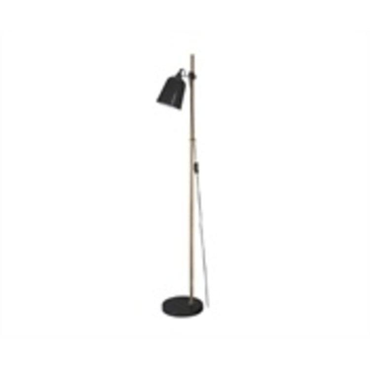 Leitmotiv Leitmotiv Floor lamp Wood-like metal black
