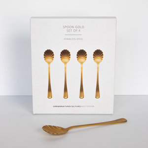 Urban Nature Culture Amsterdam Good Morning Spoon Gold, set of 4 in gift pack