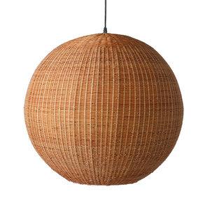 HKliving Bol hanglamp bamboe 60cm