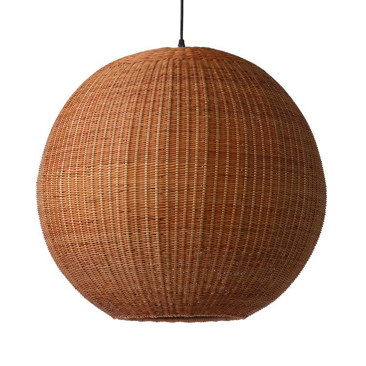 HKliving HKliving bamboo pendant ball lamp 60cm