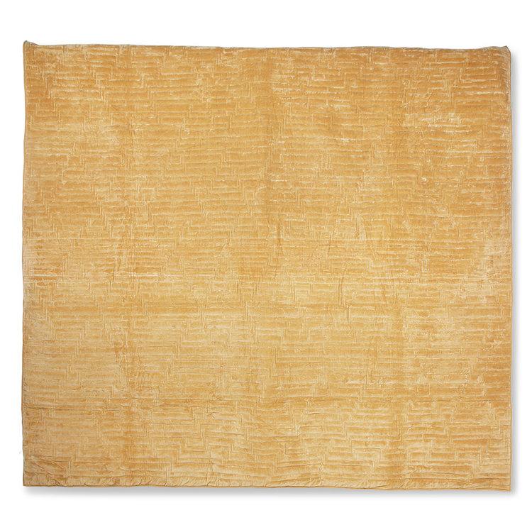HKliving Hkliving gesteppte Tagesdecke aus Baumwollsamt in weichem Gelb (240x260)