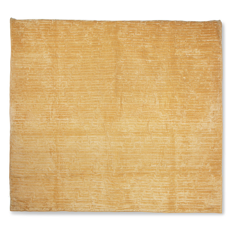 HKliving Hkliving quilted cotton velvet bedspread soft yellow (240x260)