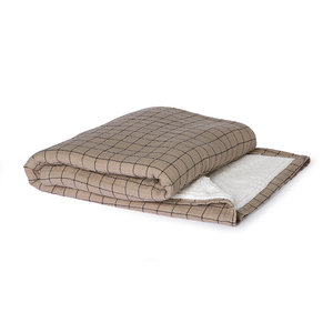 HKliving HKliving checkered sherpa throw (130x170)