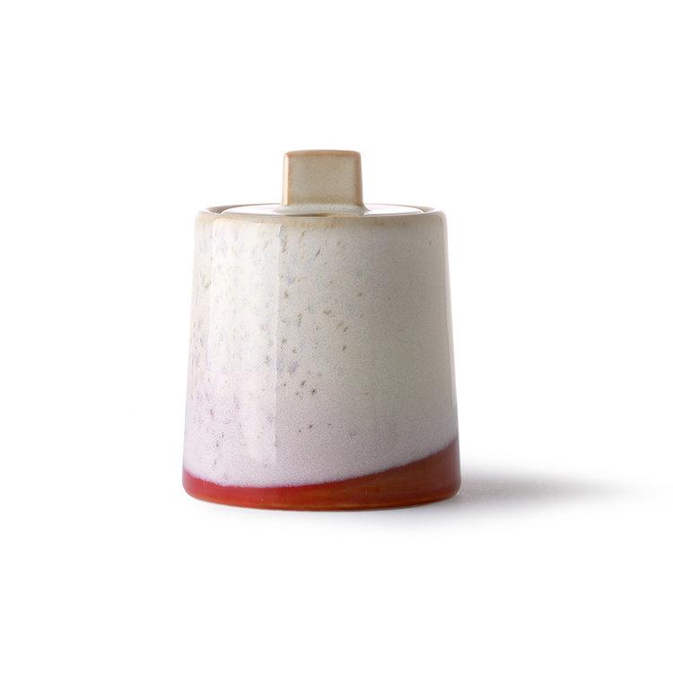 HKliving HKliving Keramik Milchkrug & Zuckerdose 70er Jahre: Frost
